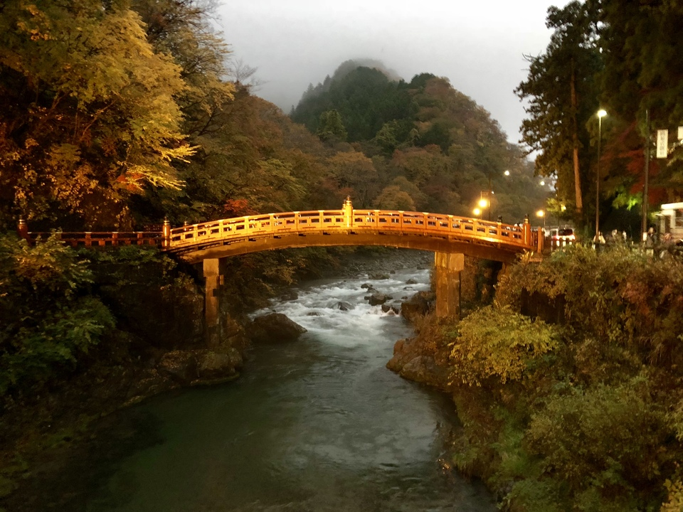 Shinkyo bridge in Nikko Japan
