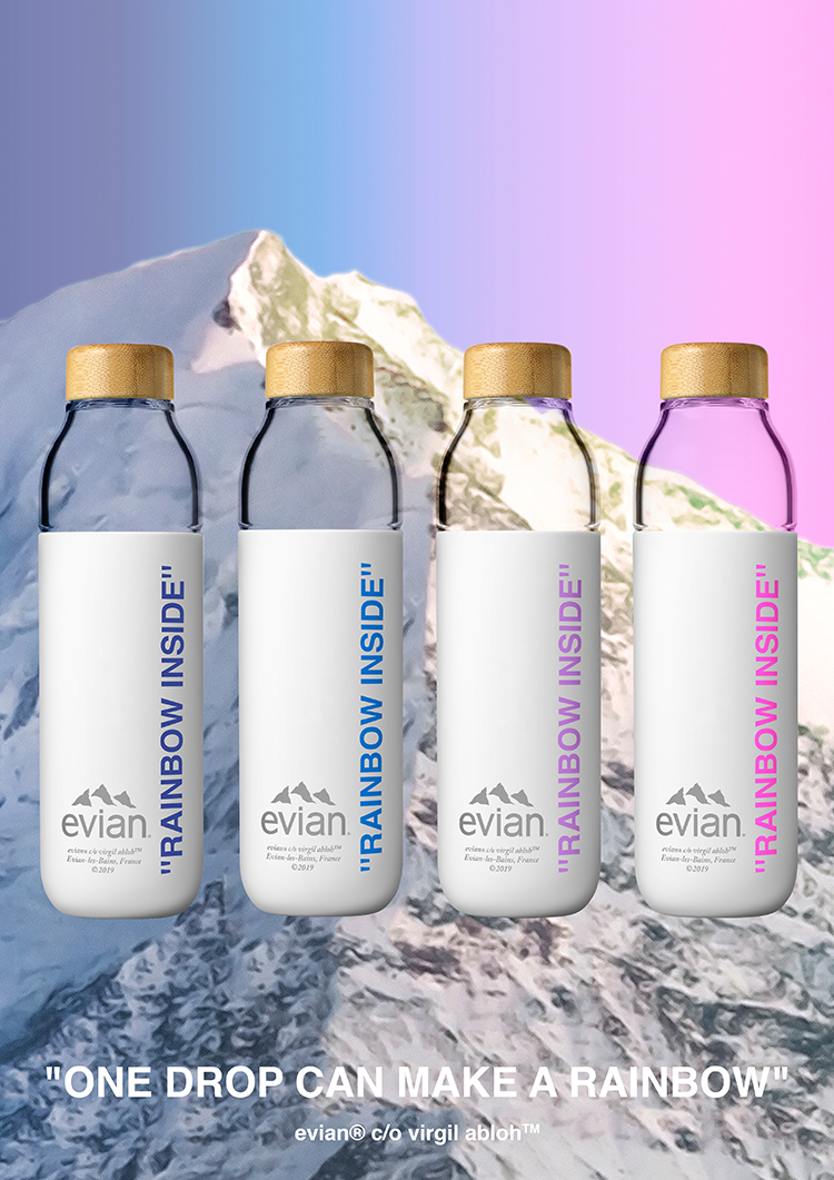 Virgil Abloh Designs Refillable Soma Water Bottle For Evian