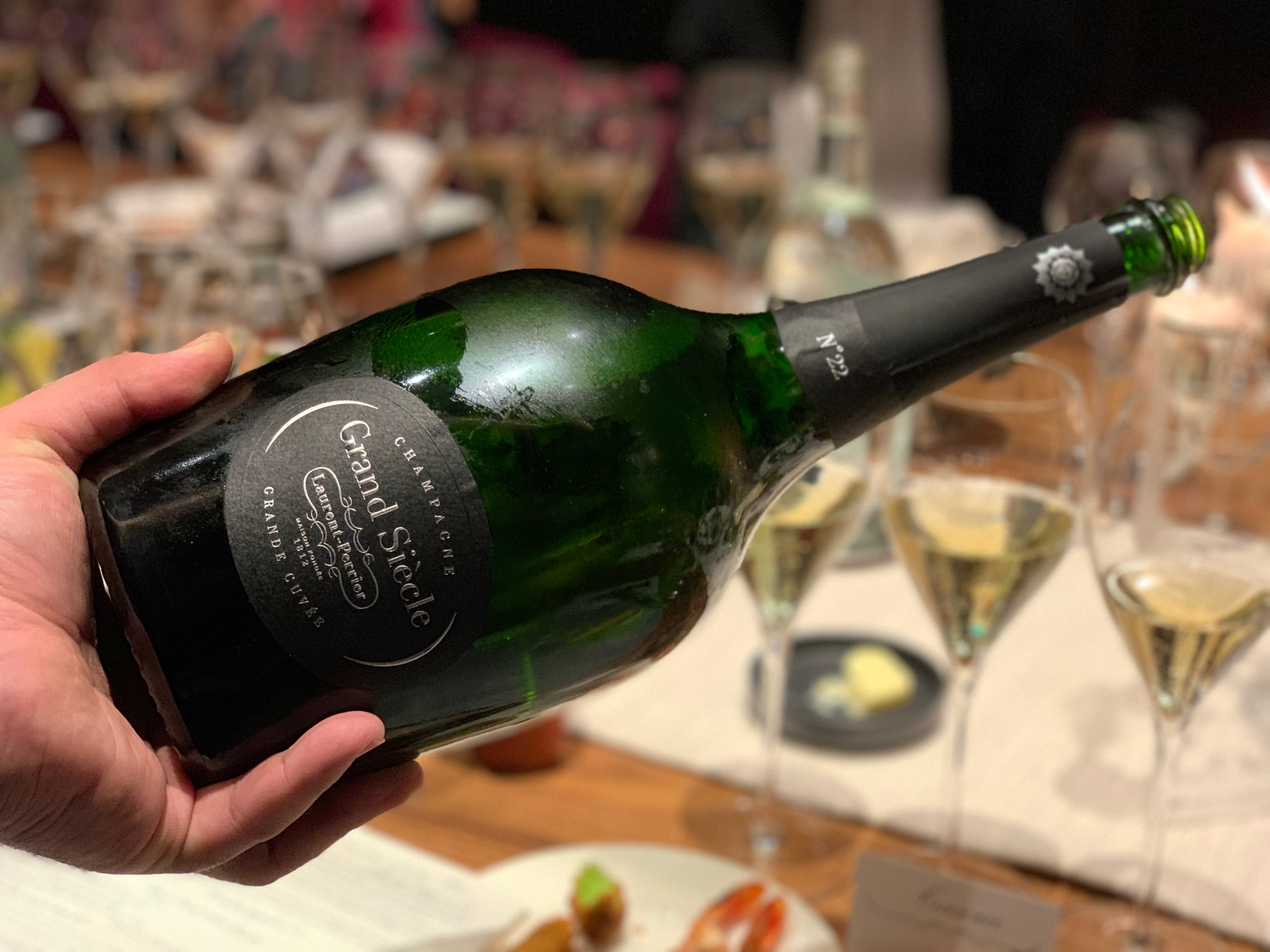 Grand Siècle No. 22 (2004, 2002, 1999 vintages with 13 years of cellar aging before disgorgement). While 750 ml offerings of this iteration were previously released in the US, magnums—priced at $400—will launch in fall 2019