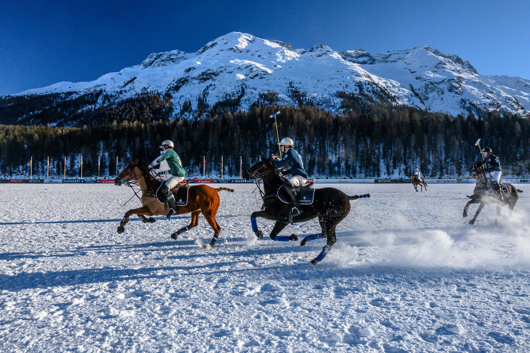 Snow Polo World Cup in St. Moritz, Switzerland