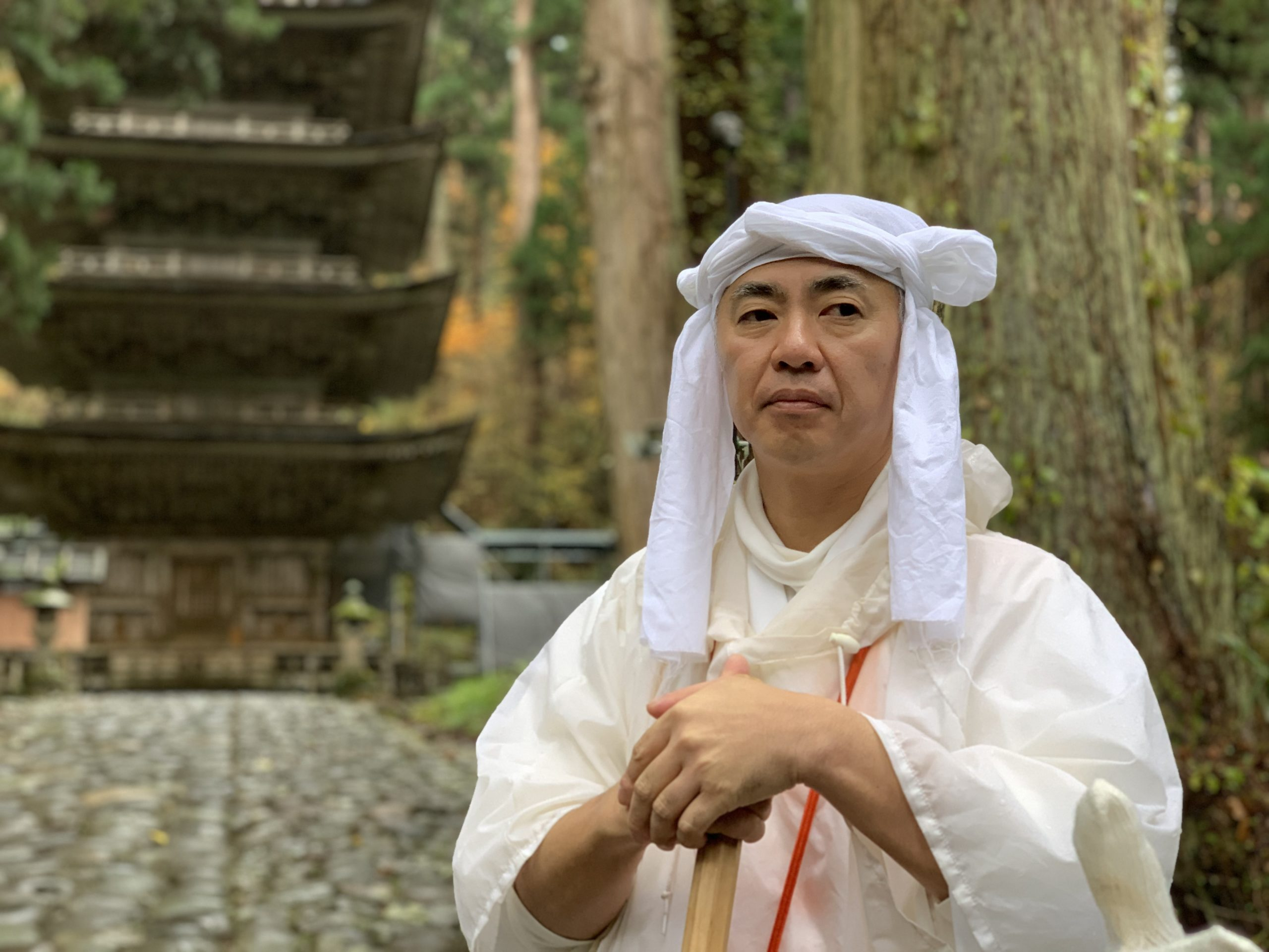 A Yamabushi mountain priest can be hired to guide you on a spiritual journey up the sacred Haguro-san. Photo by Carrie Coolidge