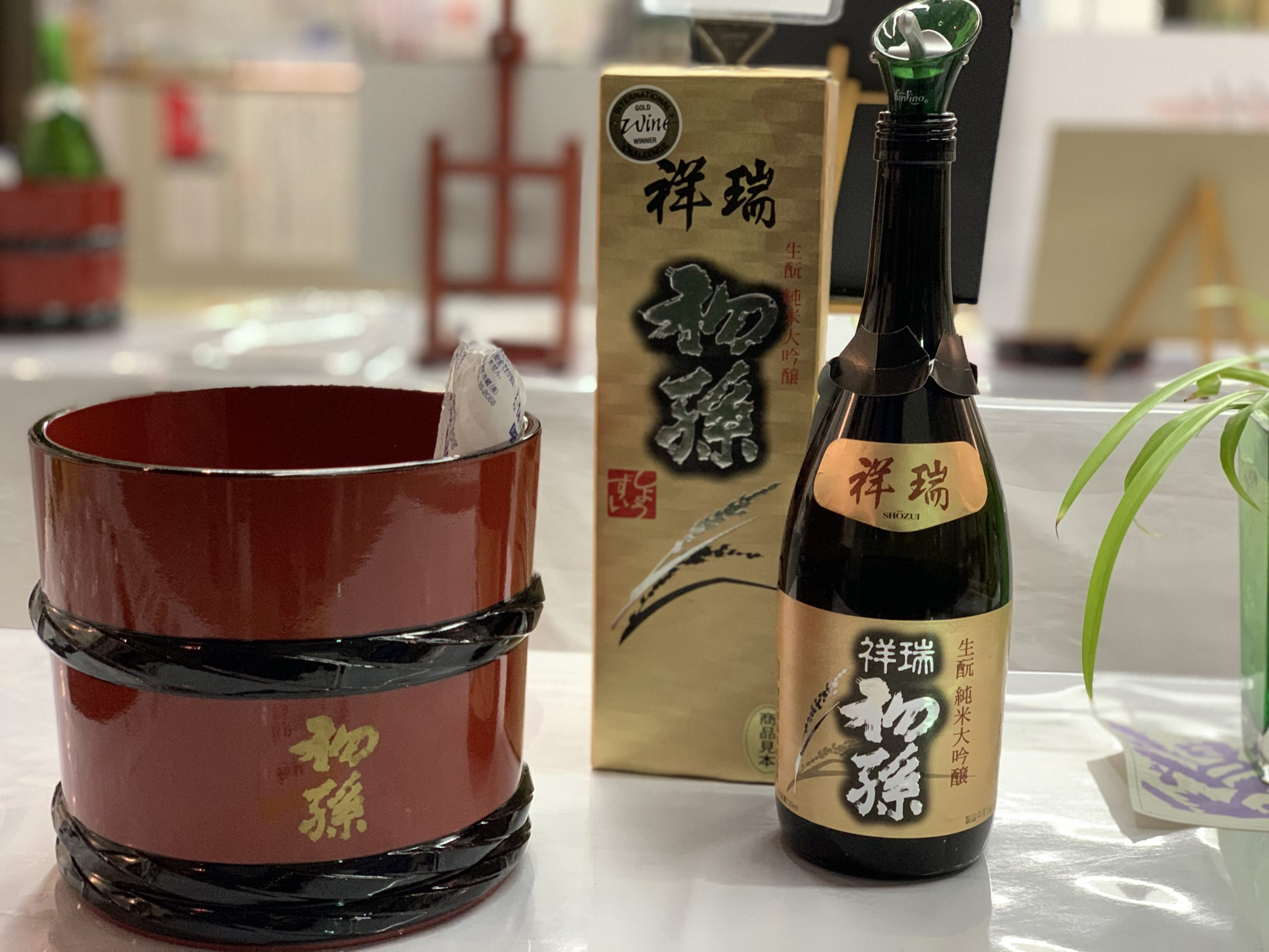 Tohoku Meijo Co.'s sake received six gold medals at the International Wine Challenge in 2018. Photo by Carrie Coolidge