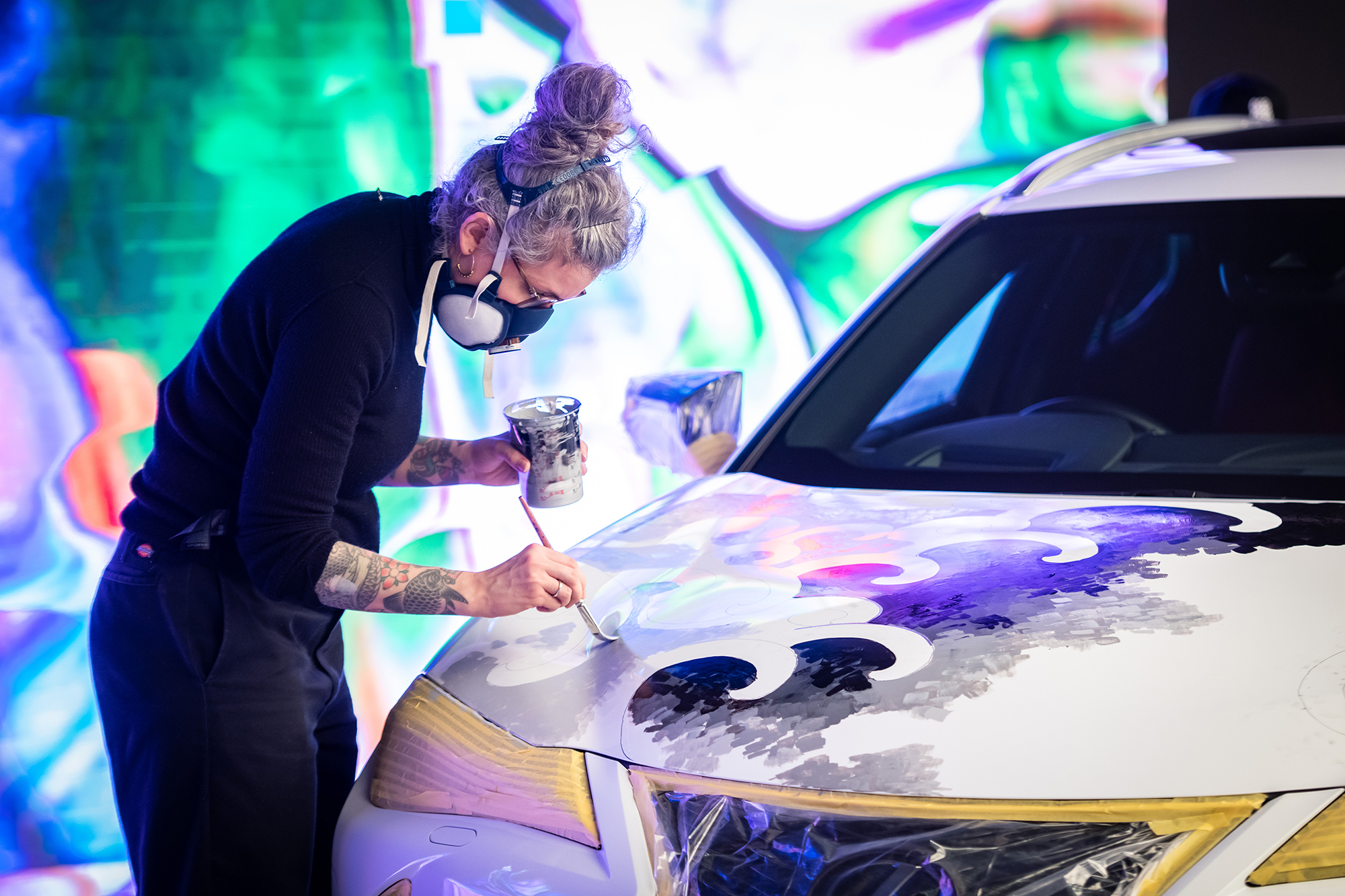 Lexus Unveils The World's First Tattooed Car